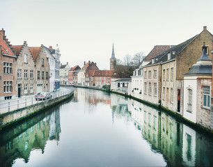 Medieval channel in Bruges, Belgium