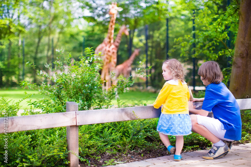 observe children in the zoo