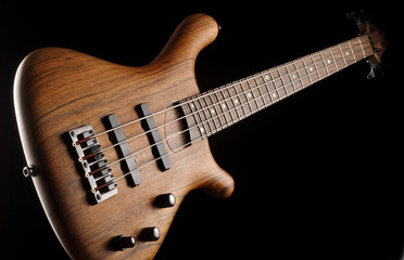 exotic wood bass guitar