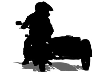 Wall Mural - Two old biker
