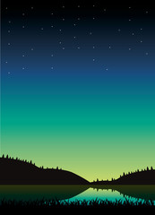 Beautiful Night Sky Background