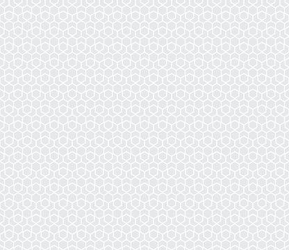 Seamless subtle gray hexagonal pattern vector