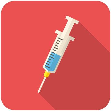Medical syringe icon