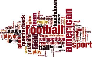 American football word cloud concept. Vector illustration