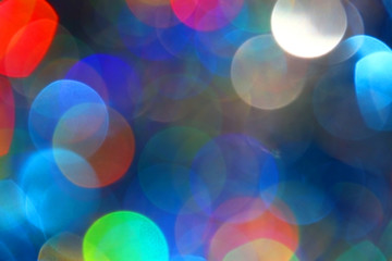 Colored blur defocused background with bokeh effect