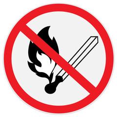 No, open, fire, no smoking, sign
