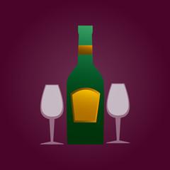 Drink design over purple background vector illustration