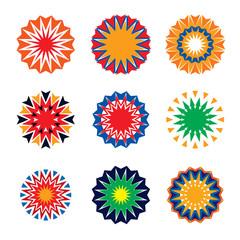 Set of color stars