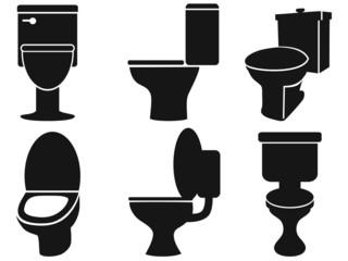 toilet silhouettes