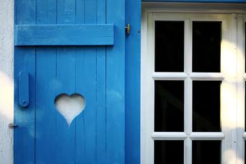 Heart on wood