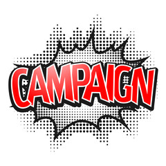 Comic speech bubble, Campaign, isolate vector illustration
