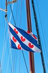 Dutch Frisian flag on a sailing ship