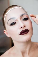 Fashion image with professional cosmetics.
