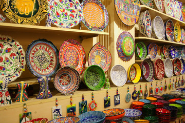 Colorful Ceramics From Istanbul,Turkey