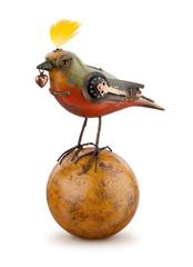 Steampunk Mechanical Bird isolated