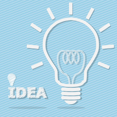 Light Bulb for Idea Concept Vector
