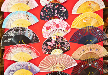Japanese traditional  fans, Kyoto,  Japan.