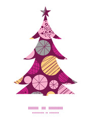 Vector abstract textured bubbles Christmas tree silhouette