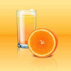 full glass orange