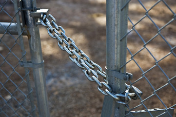 Strong Chain and Lock Securing Gate