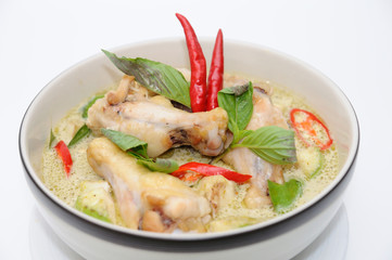 Thai tradition food chicken green curry