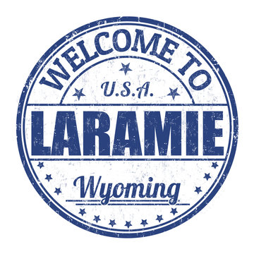 Welcome to Laramie stamp