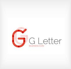 G letter logo, minimal line design