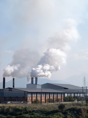 Smoke from heavy intustry factory