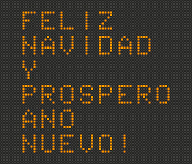 Merry Christmas and Happy New Year card in Spanish