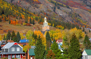 Scenic Silverton cityscape in autumn time
