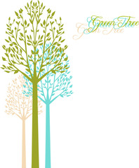 Vector background with spring trees