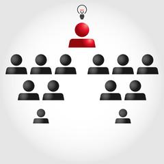 Team work. People pyramid.subordinate chief of staff