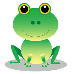Cute Frog Cartoon Character