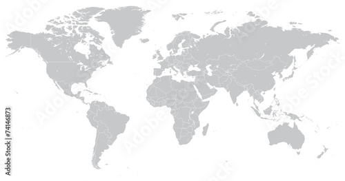Hi detail vector political world map illustration imgenes de hi detail vector political world map illustration gumiabroncs Gallery