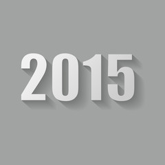 Grey 2015 new year card design.