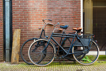 Foto op Plexiglas Fiets Amsterdam