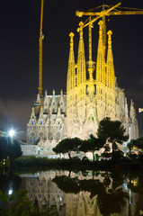 Sagrada Familia in night. Barcelona