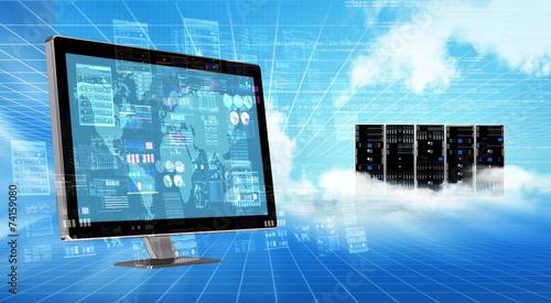 Internet cloud  Server Concept