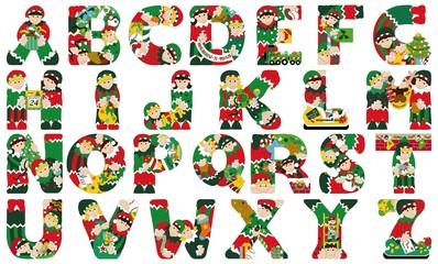 Abecedario Navidad