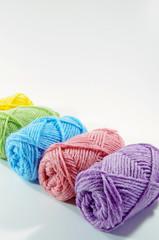 カラフルな毛糸
