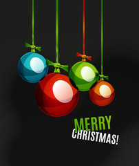 Christmas ball, bauble, New Year Concept