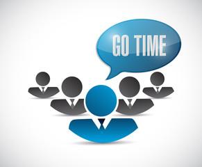 go time team message illustration