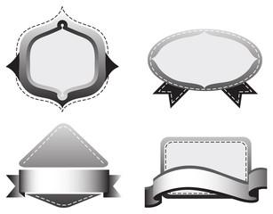 Four grey templates