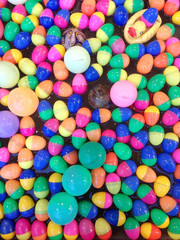 Background, colorful plastic balls in the pool