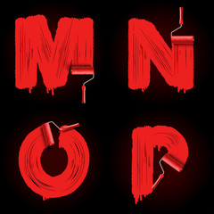 roller brush font