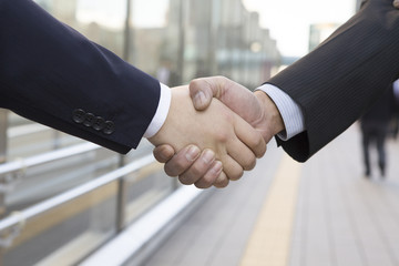 Handshake between businessman