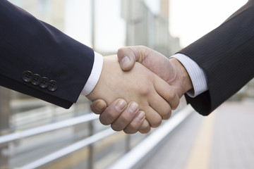 Handshake of businessman