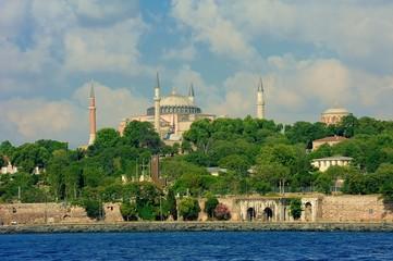 Hagia Sophia Ayasofya with cloudy sky