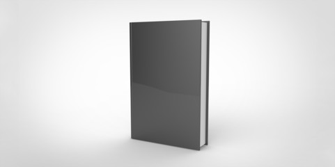 dark black Book cover isolated on plain background