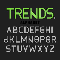 Modern font Trends, alphabet